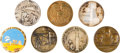 "Explorers:Space Exploration, Apollo 11 Medals: Group of Seven High Quality 2"" (51 mm) Examples. ..."