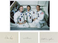 Autographs:Celebrities, Apollo 7: Individual Signatures with Color Photo. ...