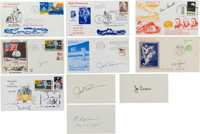 Skylab Astronauts: Group of Ten Signatures and Signed Covers