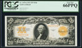 Large Size:Gold Certificates, Fr. 1187 $20 1922 Mule Gold Certificate PCGS Gem New 66PPQ.. ...