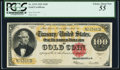 Large Size:Gold Certificates, Fr. 1215 $100 1922 Gold Certificate PCGS Choice About New 55.. ...