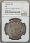 Morgan Dollars: , 1883-CC $1 Good 4 NGC. EX: The Maumee Valley Collection. NGC Census: (28/21839). PCGS Population: (34/44235). Good 4 . Mint...