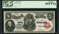 Large Size:Legal Tender Notes, Fr. 80 $5 1880 Legal Tender PCGS Gem New 66PPQ.. ...