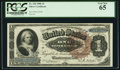 Large Size:Silver Certificates, Fr. 220 $1 1886 Silver Certificate PCGS Gem New 65.. ...