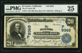 National Bank Notes:California, El Centro, CA - $20 1902 Date Back Fr. 644 The El Centro NB Ch. # (P)9349. ...