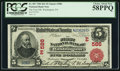 National Bank Notes:Pennsylvania, Washington, PA - $5 1902 Red Seal Fr. 587 The First NB Ch. #(E)586. ...