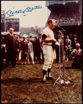 Autographs:Photos, Mickey Mantle Signed Oversized Photograph. . ...