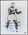"Autographs:Photos, 1989 Muhammad Ali ""Serve God, He is the Goal"" Signed Photograph....."