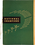 Football Collectibles:Programs, 1939 Green Bay Packers Team-Signed World Championship Testimonial Banquet Program....