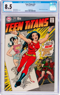 Teen Titans #23 (DC, 1969) CGC VF+ 8.5 Off-white to white pages