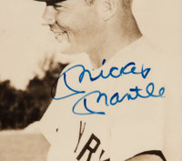 2ad6fd4548d 1956 Mickey Mantle   Casey Stengel Signed Display with Ticket ...