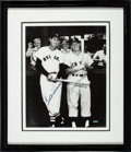 Baseball Collectibles:Photos, 1990's Mickey Mantle and Ted Williams Signed Oversized UDAPhotograph....