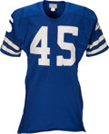 Football Collectibles:Uniforms, 1970-71 Richmond Flowers Game Worn Dallas Cowboys Jersey....