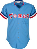 Baseball Collectibles:Uniforms, 1981 Al Oliver Game Worn Texas Rangers Jersey. . ...