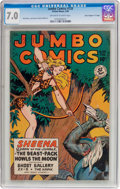 """Golden Age (1938-1955):Adventure, Jumbo Comics #120 Davis Crippen (""""D"""" Copy) Pedigree (Fiction House, 1949) CGC FN/VF 7.0 Off-white to white pages...."""