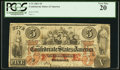 Confederate Notes:1861 Issues, T31 $5 1861 PF-1 Cr. 243.. ...
