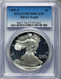 Modern Bullion Coins, 1989-S $1 Silver Eagle PR70 Deep Cameo PCGS. PCGS Population: (2294). NGC Census: (1451). CDN: $176 Whsle. Bid for problem-...