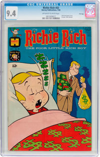 Richie Rich #83 File Copy (Harvey, 1969) CGC NM 9.4 Off-white to white pages