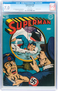 Golden Age (1938-1955):Superhero, Superman #23 (DC, 1943) CGC FN/VF 7.0 White pages....