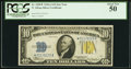 Small Size:World War II Emergency Notes, Fr. 2309* $10 1934A North Africa Silver Certificate. PCGS About New 50.. ...