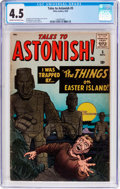 Silver Age (1956-1969):Horror, Tales to Astonish #5 (Marvel, 1959) CGC VG+ 4.5 Cream to off-whitepages....
