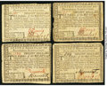Colonial Notes:Rhode Island, Rhode Island July 2, 1780 $20 Very Fine or better. Four Examples..... (Total: 4 notes)