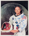 Autographs:Photos, Circa 1980 Neil Armstrong Signed Photograph....