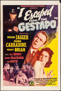 "Movie Posters:War, I Escaped from the Gestapo (Monogram, 1943). Trimmed One Sheet (27""X 40.25""). War.. ..."