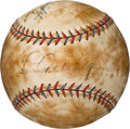 Baseball Collectibles:Balls, 1932-33 Lou Gehrig & Lefty Gomez Signed Baseball. . ...