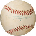 Baseball Collectibles:Balls, 1950's Pie Traynor Single Signed Baseball....
