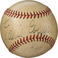 Baseball Collectibles:Balls, Late 1930's Eddie Collins Single Signed Baseball.. ...