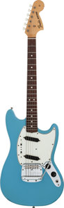 Musical Instruments:Electric Guitars, 1966 Fender Mustang Daphne Blue Solid Body Electric Guitar, Serial#144466....