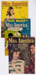 Golden Age (1938-1955):Romance, Miss America Magazine Group of 4 (Miss America Publishing, 1946-49)Condition: Average VG/FN.... (Total: 4 Comic Books)