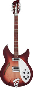 Musical Instruments:Electric Guitars, 1997 Rickenbacker 330/12 Fireglo Semi-Hollow Body Electric Guitar,Serial # NO 8790....