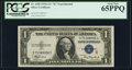 Small Size:Silver Certificates, Fr. 1609 $1 1935A R Silver Certificate. PCGS Gem New 65PPQ.. ...