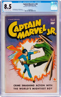 Captain Marvel Jr. #59 (Fawcett Publications, 1948) CGC VF+ 8.5 Off-white to white pages