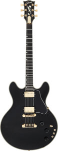Musical Instruments:Electric Guitars, 1980 Gibson ES-Artist Black Semi-Hollow Body Electric Guitar, Serial # 80580001....