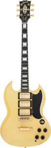 Musical Instruments:Electric Guitars, 1976 Gibson SG Custom Yellow Solid Body Electric Guitar, Serial # 00 144597....