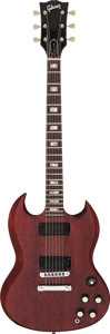 Musical Instruments:Electric Guitars, 1975 Gibson SG Deluxe Cherry Solid Body Electric Guitar, Serial # 402394....
