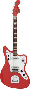 Musical Instruments:Electric Guitars, 1966 Fender Jaguar Fiesta Red Solid Body Electric Guitar, Serial # 181761....