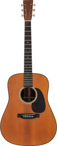 Musical Instruments:Acoustic Guitars, 2017 Martin D-28 '1937 Aged' Natural Acoustic Guitar, Serial # 2092334....