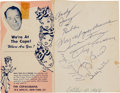 Autographs:Others, 1956 Yogi Berra, Whitey Ford, Billy Martin & Don Larsen SignedCopacabana Flyer....