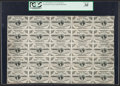 Fractional Currency:Third Issue, Fr. 1226 3¢ Third Issue PCGS Very Fine 30 Uncut Sheet of 25.. ...