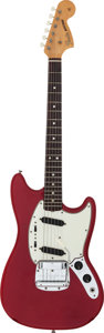 Musical Instruments:Electric Guitars, 1965 Fender Mustang Red Solid Body Electric Guitar, Serial #102233....