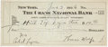 Autographs:Authors, Thomas Wolfe Signed Check. ...