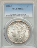 Morgan Dollars: , 1880-S $1 MS66+ PCGS. PCGS Population: (11010/2496 and 467/300+). NGC Census: (11667/3512 and 316/118+). MS66. Mintage 8,90...