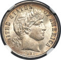 Barber Dimes, 1911-S 10C MS67 NGC....
