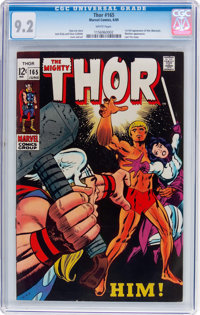 Thor #165 (Marvel, 1969) CGC NM- 9.2 White pages