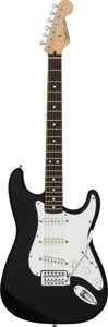 Musical Instruments:Electric Guitars, 1992 Fender Stratocaster Black Solid Body Electric Guitar, Serial #MN2058952....