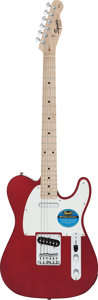 Musical Instruments:Electric Guitars, Circa 2010 Squier by Fender Telecaster Candy Apple Red Solid BodyElectric Guitar, Serial # CY50124578....